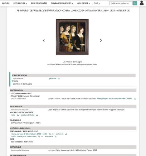capture d'écran de l'interface d'Agorha