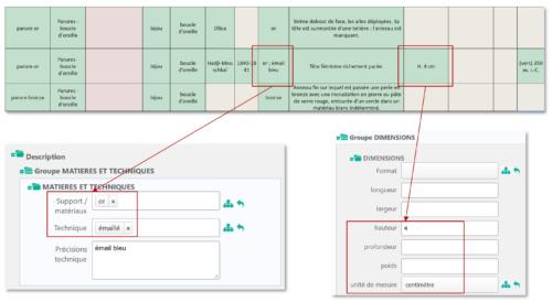 Exemple de saisie d'informations sur la base Digital Muret